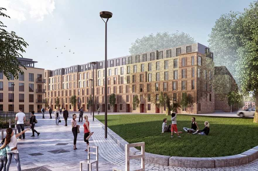 Artist impression of Castleward Urban Village