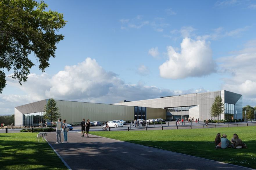 Artist impression of Moorways Sports Village pool exterior