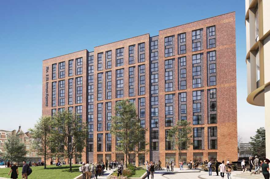 Artists impression of a building in the new Becketwell redevelopment.