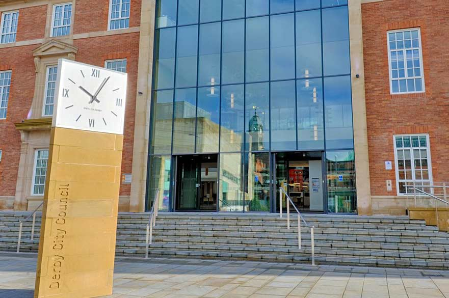 Clock outside Council House