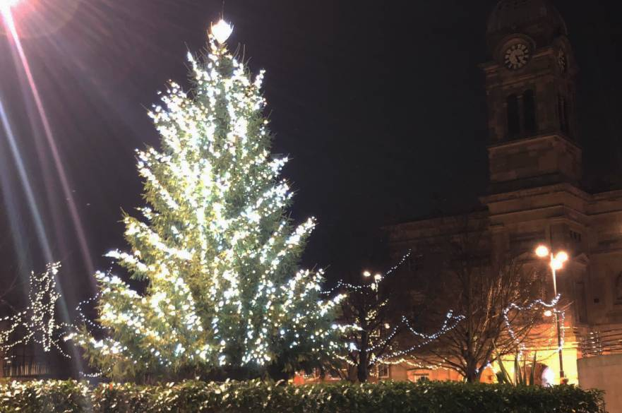 Christmas tree in Derby