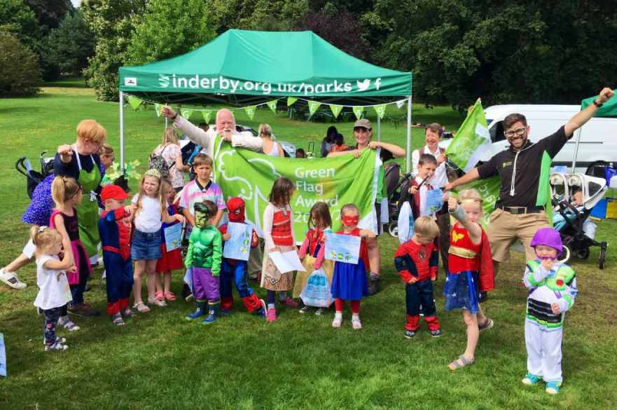 Children at Superhero Picnic