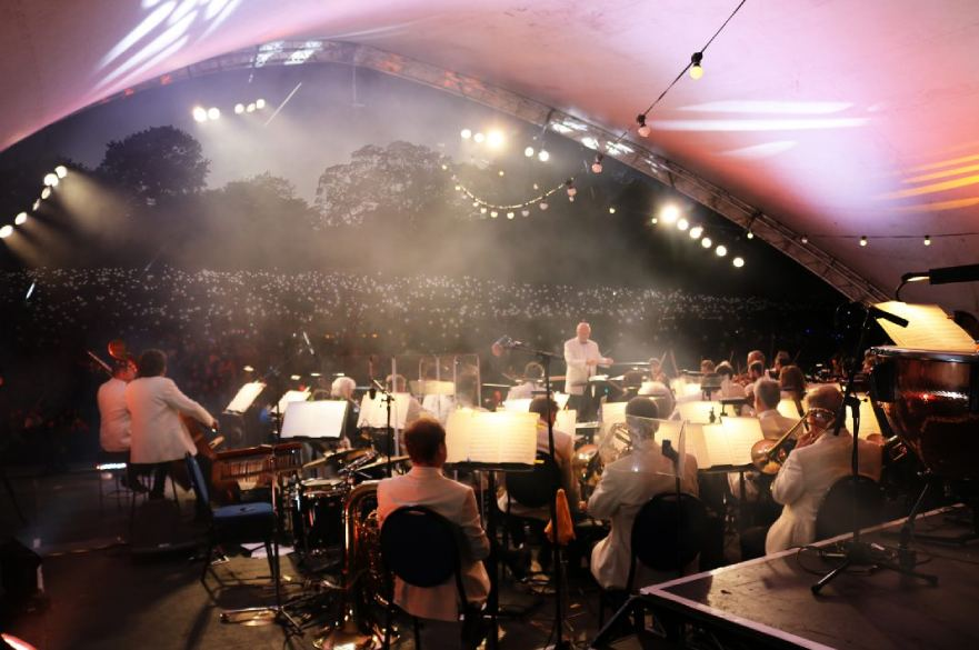 Orchestra at Darley Park concert