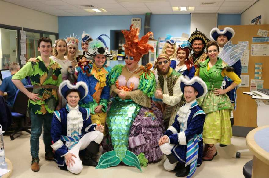Peter Pan cast visit Derby Children's Hospital