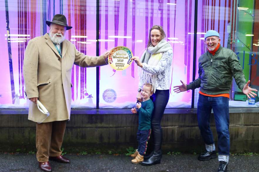 Window Wonderland winners from Deda with Cllr Robin Wood