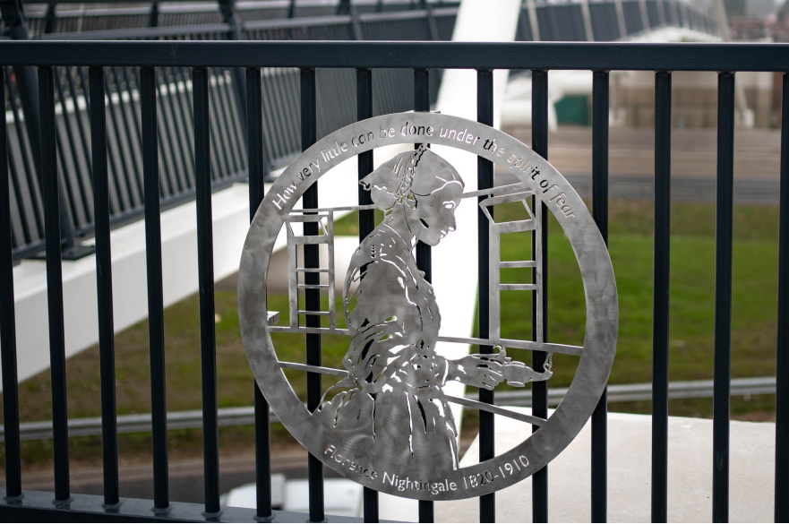 Florence Nightingale plaque featured on A52 footbridge