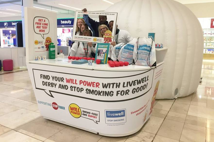 Stoptober information stand