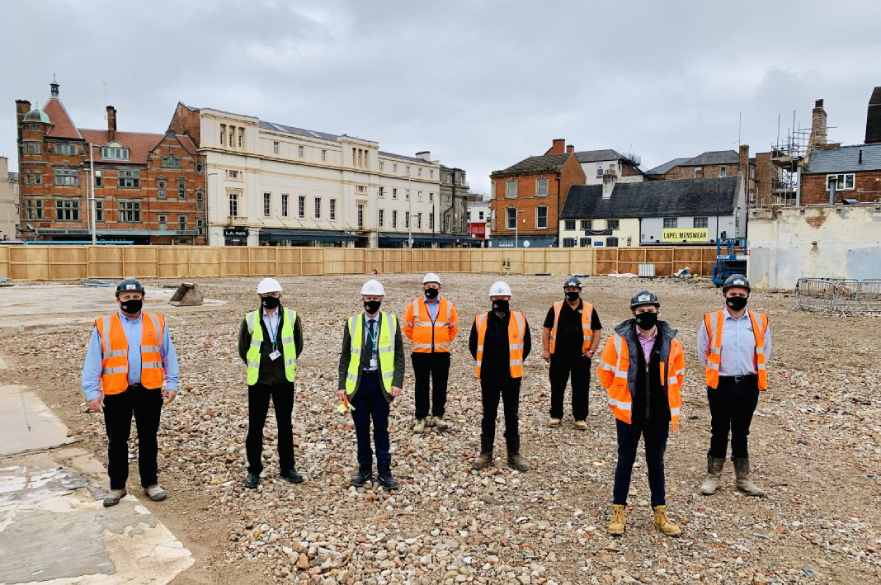 Cawarden and Council staff at former Debenhams site