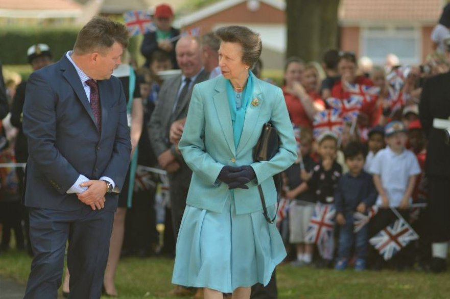 Princess Royal visiting Derby