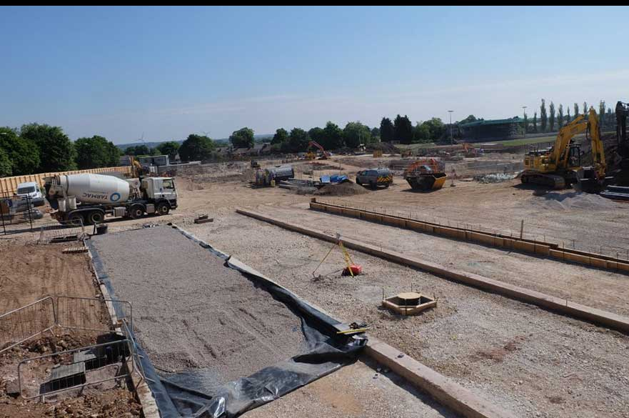 Moorways Sports Village construction