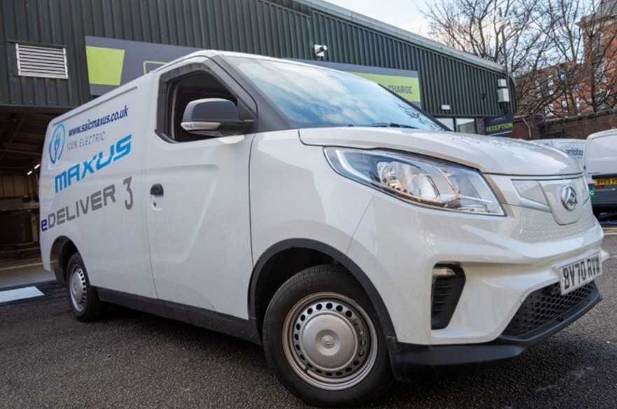 Image of an electric van