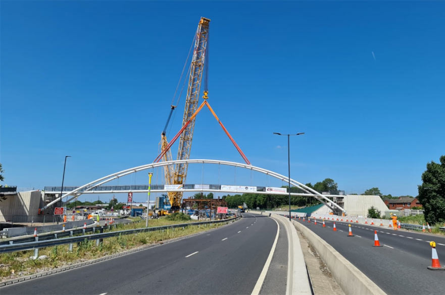 A52 bridge installation