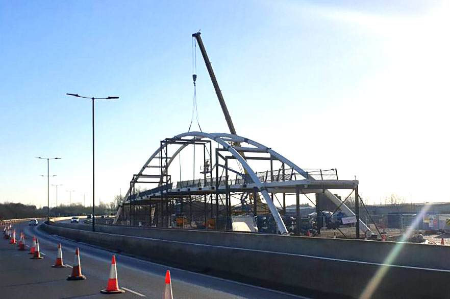 A52 footbridge construction