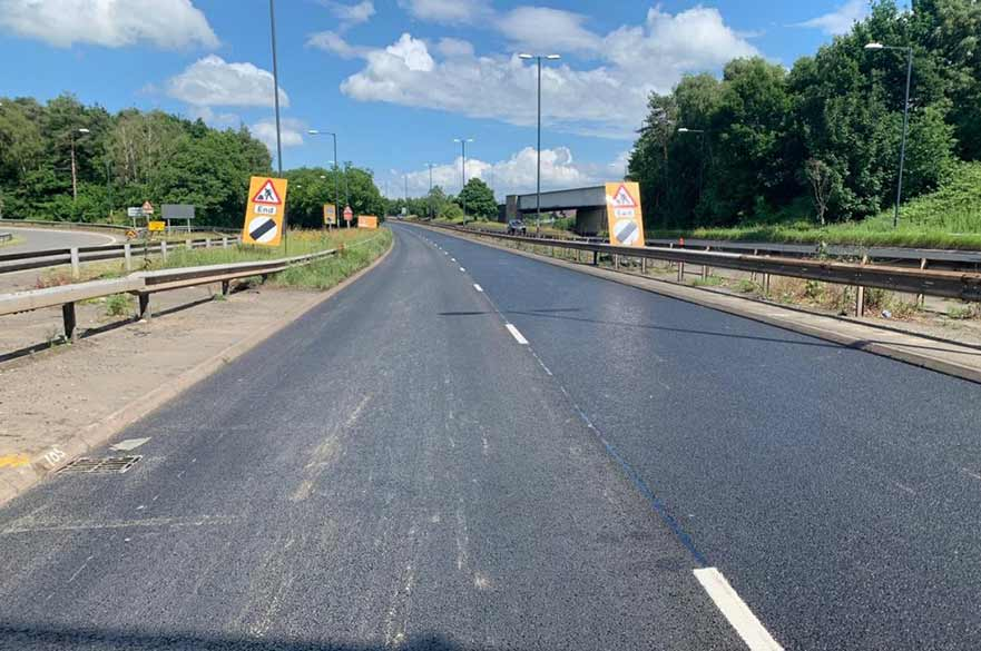 A52 new tarmac