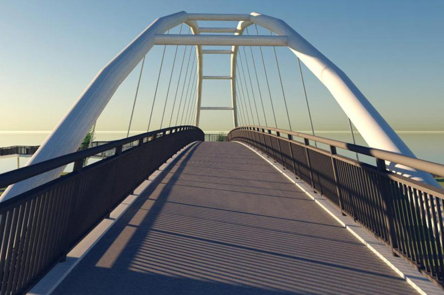Artist impression of Meadow Lane footbridge