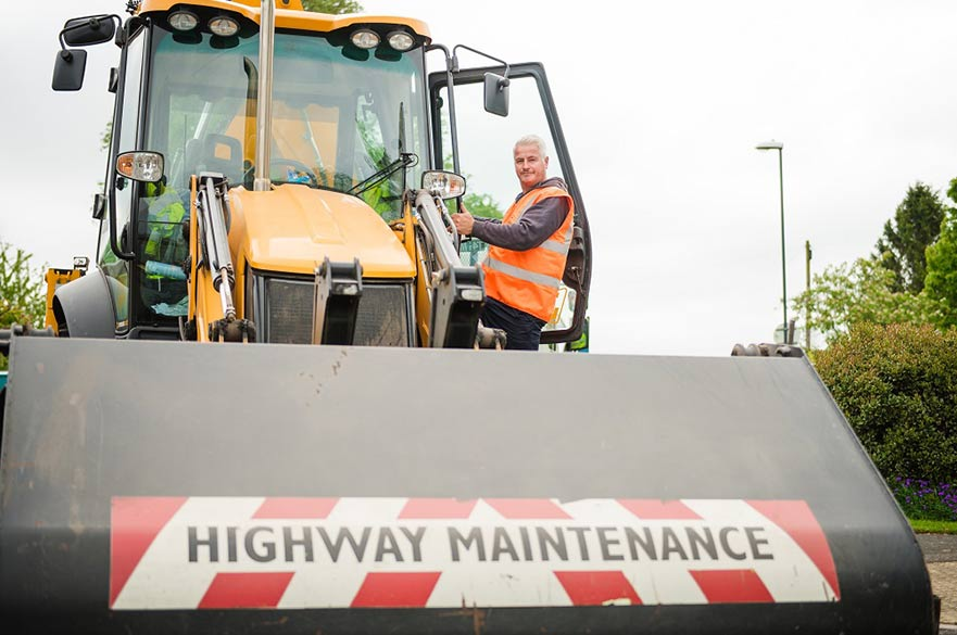 Highways maintenance workman